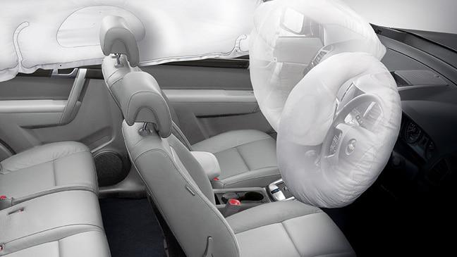 Fitur Keselamatan Dual Airbag Chevrolet Captiva